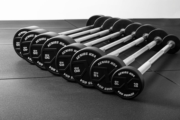 Xenios X-Grips Straight Barbell Set